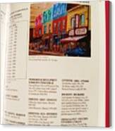 Carole Spandau Listed In Magazin'art Biennial Guide To Canadian Artists In Galleries 2009-2010 Edit Canvas Print