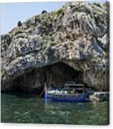 Caroline Cave And Maltese Traditional Boat Canvas Print