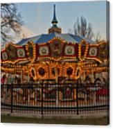 Carousel At Dusk Canvas Print