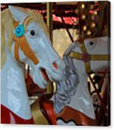 Carousel Horses At A Fair Canvas Print