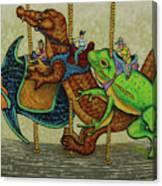 Carousel Kids 3 Canvas Print