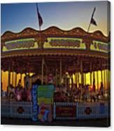 Carousel Sunset Canvas Print