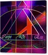 Carpe Diem Orangecross Canvas Print