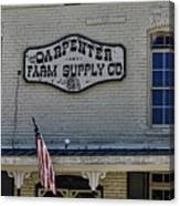 Carpenter Farm Supply Co Sign Canvas Print