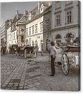 Carriages Back To Stephanplatz Canvas Print