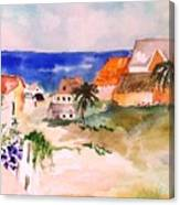 Carribean Village Canvas Print