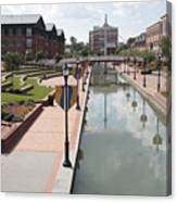 Carroll Creek Park In Frederick Maryland Canvas Print