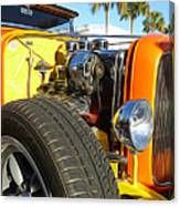 Cars - 1932 Ford Roadster Hot Rod - Engine And Tire Close Up Canvas Print