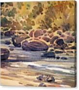 Carson River In Autumn Canvas Print