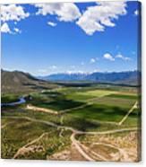 Carson Valley Panorama Canvas Print