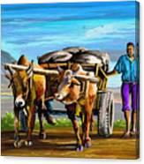 Cart Man Canvas Print