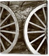Cart Wheels Canvas Print