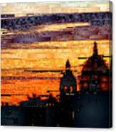 Cartagena Colombia Night Skyline Canvas Print
