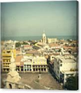 Cartagena De Indias Seen From Above Canvas Print