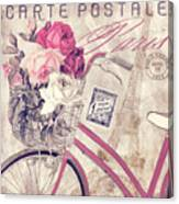 Carte Postale Bicycle Canvas Print