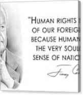 Carter On Human Rights Canvas Print