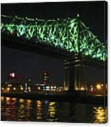 Cartier Bridge Night Canvas Print