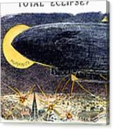 Cartoon: Airship Raid 1914 Canvas Print
