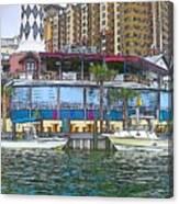 Cartoon Boats Canvas Print
