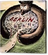 Cartoon: Cold War Berlin Canvas Print
