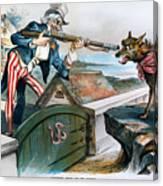 Cartoon: Panic Of 1893 Canvas Print