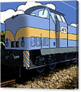 Illustrated Train Canvas Print