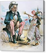 Cartoon: Uncle Sam, 1893 Canvas Print