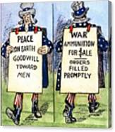 Cartoon: U.s. Neutrality Canvas Print