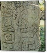 Carved Danzantes Stone Canvas Print