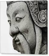 Carved Monk Statue Canvas Print