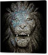 Carved Stone Lion's Head Canvas Print