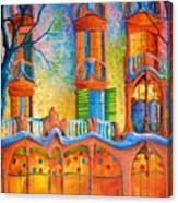 Barcelona Casa Batilo Canvas Print