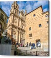 Casa De Las Conchas In Salamanca Canvas Print