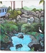 Casa Tropical Canvas Print