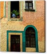 Casa With Sea Green Canvas Print