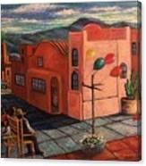 Casas Rosadas Canvas Print