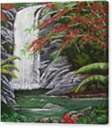 Cascada Tropical Canvas Print
