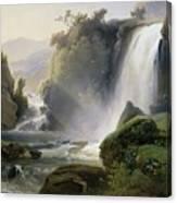 Cascade Dit Autrefois La Cascade De Tivoli Canvas Print