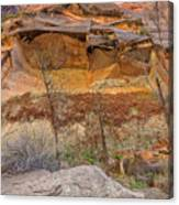 Cascade Of Glowing Sandstone Canvas Print