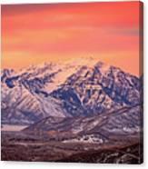 Cascade Ridge Sunrise Canvas Print