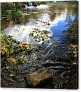 Cascade Springs With Rock Canvas Print