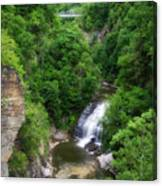 Cascadilla Waterfalls Cornell University Ithaca New York 01 Canvas Print