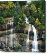Cascading Skagway Waterfall  Canvas Print