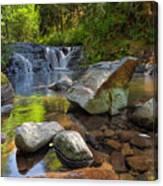 Cascading Waterfall At Sweet Creek Falls Trail Canvas Print