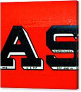 Case Tractor Nameplate Canvas Print