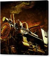 Casey Jones And The Cannonball Express Canvas Print