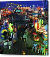 Casino Pier At Seaside Heights Canvas Print