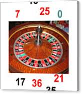Casino Roulette Wheel Lucky Numbers Canvas Print