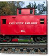 Cass Red Caboose Canvas Print