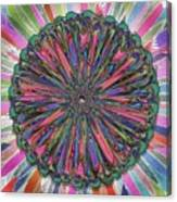 Cassandra -- Floral Disk Canvas Print